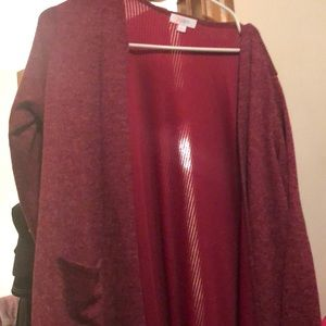 Beautiful burgundy Sarah with tags . Size large